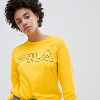 Fila Oversized Long Sleeved T-Shirt With Chest Logo at asos.com