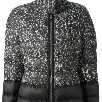 Moncler Gamme Rouge contrast printed padded coat