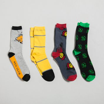 Achievement Hunter Classic Crew Socks 4 Pack