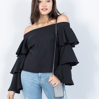 Next Level Ruffled Blouse