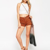 ASOS | ASOS Denim Mom Short in Tobacco With Turn Ups at ASOS