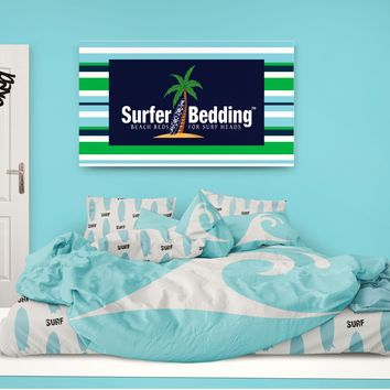 Surfer Bedding Aqua Blue Epic Wave Eco Friendly Comforter
