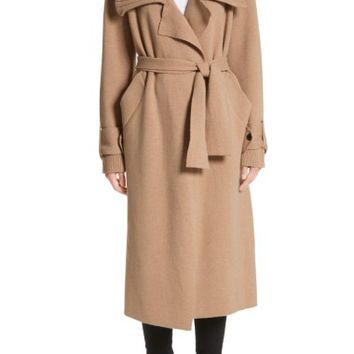 Burberry Piota Wool Blend Knit Trench Coat | Nordstrom