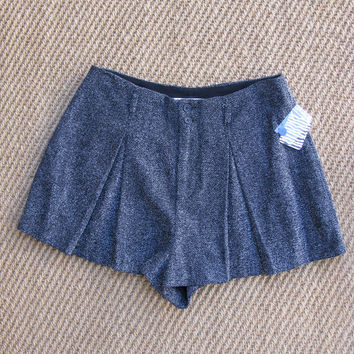 Urban Outfitters Cooperative High Waist Pleated Tweed Dress Shorts 8 NWT