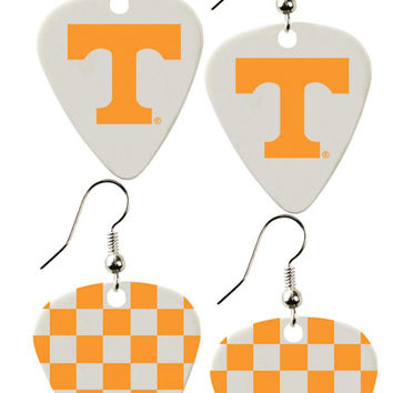 Tennessee Volunteers Guitar Pick Earrings