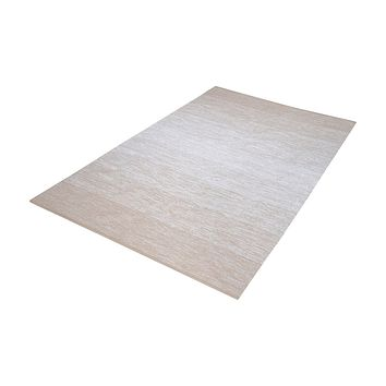 Delight Handmade Cotton Rug In Beige And White - 3ft x 5ft