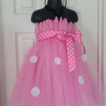 Minnie Mouse Inspired Dress with matching Headband- Multiple Sizing options. Avail in Red