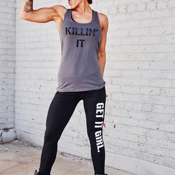 Killin It Affordable Fun women's Workout tank