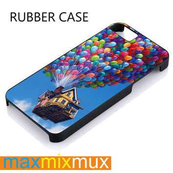 Up Balloon iPhone 4/4S, 5/5S, 5C, 6/6 Plus Series Rubber Case
