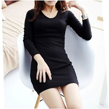 New 2017 Autumn T Shirt Women Long Sleeve O-neck Solid Candy Color Bottoming Winter Basic T-Shirt Tops Tees Thermal Tshirts