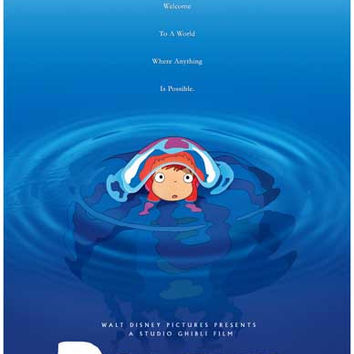 Ponyo Movie Poster 11x17