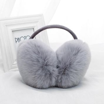 8 colors Women Childre Faux Rabbit Fur earMuffs Winter Ear warmer Ear muffs Women's Earflap Warmers protector Headband Outdoor