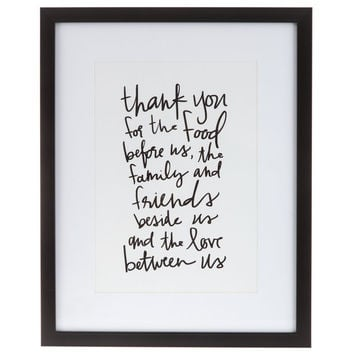 Thank You For The Food Framed Art | Hobby Lobby