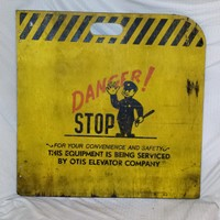 Industrial Otis Elevator Caution Sign!