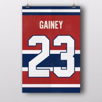 Bob Gainey Number 23 Jersey