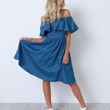 Blue Period Chambray Dress