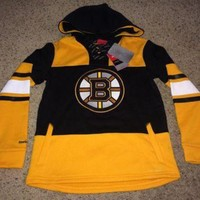 DCCKU3N Sale!! Reebok BOSTON BRUINS Hockey Hooded Sweater NHL Jersey Shirt Jacket
