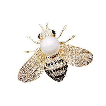SHANLIHUA Brooch Pin Flower Bee Dragonfly Feather Pineapple Animal Brooches Pins Pink Silver Gold for Womens Shell White Pearl Elegant Beautiful Brooch