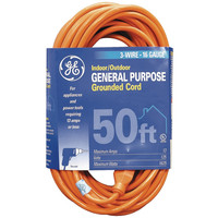 GE JASHEP 1-Outlet Indoor/Outdoor Extension Cord (50ft) 51926 51926 43180635075