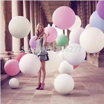 Colorful 36 Inches Balloon Ball Helium Inflable Big Latex Balloons For a Birthday Party Decoration 1 Pcs