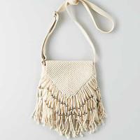 AEO CROCHET + BEAD CROSSBODY BAG