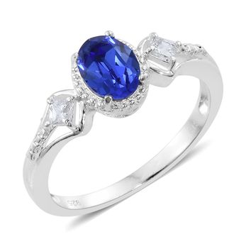 Sterling Silver Ring Made with SWAROVSKI Crystal