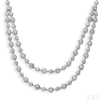 Ziva Antique Design Diamond Necklace