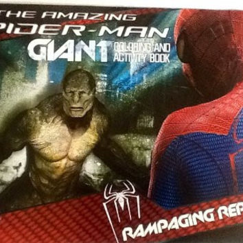 """The Amazing Spider-Man - Rampaging Reptile! Oversized Giant Coloring & Activity Book! Games! Mazes! Puzzles! 16"""" X 11"""" 24 Pages!"""