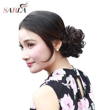 PEAP78W SARLA Synthetic Hair Chignons Elastic Scrunchie Extensions Hair Ribbon Ponytail Hair Bundles Updo Hairpieces Hair Buns H2
