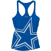 Dallas Cowboys Ladies Big Star Racerback Yoga Tank - Royal Blue
