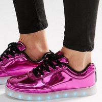Wize & Ope Pop Pink Light Up Sole Sneakers at asos.com