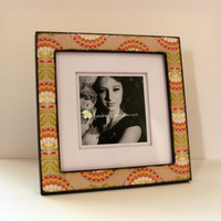 5x5 or 8x8 Large Photo Frame Vintage Flower