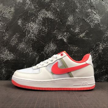 "Nike Air Force 1 Low ""Transparent White Crimson"" - Best Online Sale"