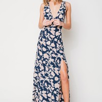 Flynn Skye Bellflower Maxi in Navy Poppy