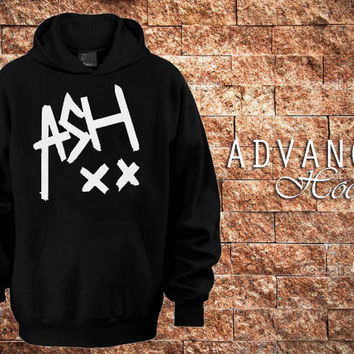5SOS Ashton Irwin signature Hoodies Hoodie Sweatshirt Sweater Shirt black and white Unisex by advancehoodie