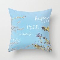 Above All, Be Happy Throw Pillow by Beth - Paper Angels Photography
