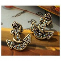 Anchor Earrings  from Camo and Bling