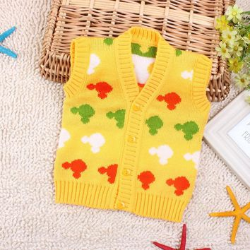 Infants Coats and Jackets Winter Baby Boy Girl Knited Crochet Vest Soft Waistcoat Fur Girl Cardigan Warm Vest Newborn Clothes
