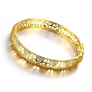Z026-A Good Quality Nickle Free AntiallergicNew Fashion Jewelry 24K Gold Plated Bracelets