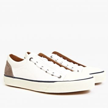 Lanvin Men's White Canvas Basket Sneakers