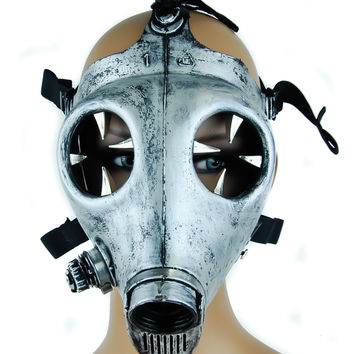 Claw Spike Antique Silver Color Industrial Gas Mask