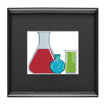 Chemistry Set Cross Stitch Pattern
