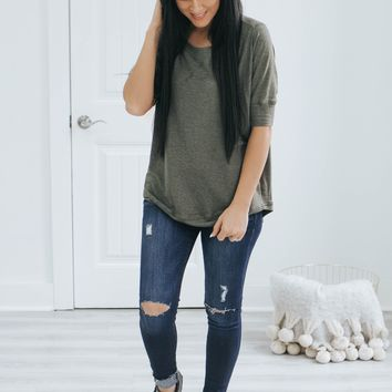 Cozy & Chic Top - Olive