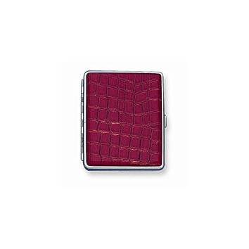 Faux Croco Covered (Holds 20-100mm) Cigarette/Card Case