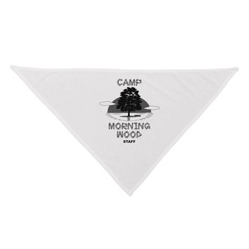 Camp Morning Wood Staff - B&W Dog Bandana 26