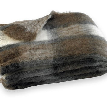 Chateau Plaid Brushed Alpaca Throw by Lands Downunder