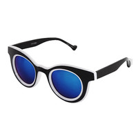 Bi-Color Lined Point Sunglasses