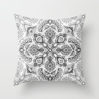 Pattern in Black & White Throw Pillow by Micklyn