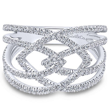 "Gabriel Intertwining ""Intermingled"" Diamond Right Hand Ring"