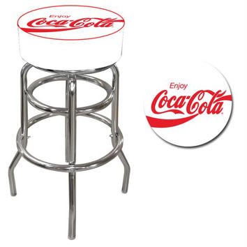 Enjoy Coke White Pub Stool